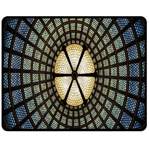 Stained Glass Colorful Glass Fleece Blanket (Medium)