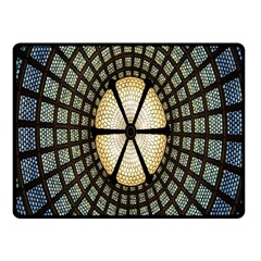 Stained Glass Colorful Glass Fleece Blanket (Small)