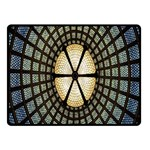 Stained Glass Colorful Glass Fleece Blanket (Small) 50 x40 Blanket Front