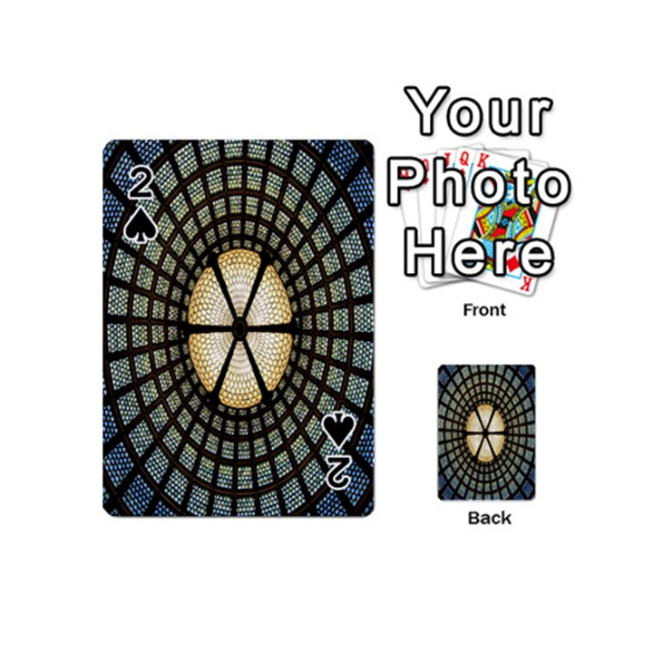 Stained Glass Colorful Glass Playing Cards 54 (Mini)