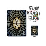 Stained Glass Colorful Glass Playing Cards 54 (Mini)  Front - SpadeK