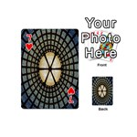 Stained Glass Colorful Glass Playing Cards 54 (Mini)  Front - Heart7
