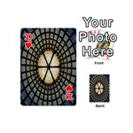 Stained Glass Colorful Glass Playing Cards 54 (Mini)  Front - Heart10