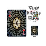 Stained Glass Colorful Glass Playing Cards 54 (Mini)  Front - Diamond7