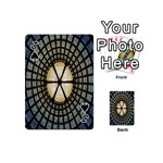 Stained Glass Colorful Glass Playing Cards 54 (Mini)  Front - SpadeJ
