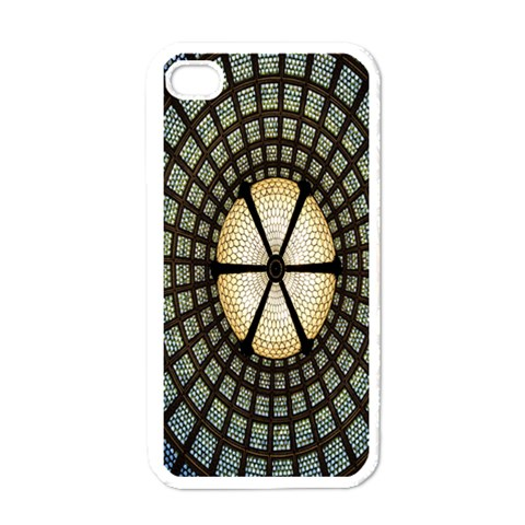 Stained Glass Colorful Glass Apple iPhone 4 Case (White)