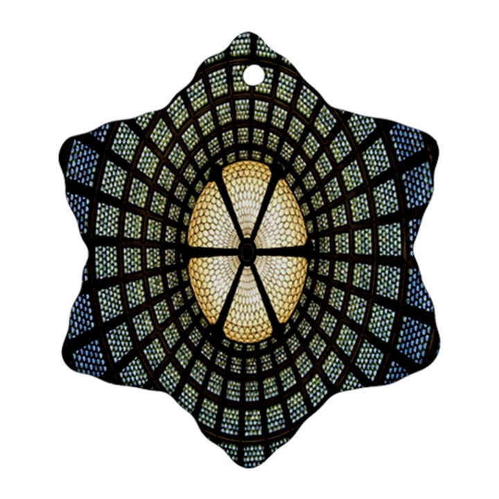 Stained Glass Colorful Glass Ornament (Snowflake)