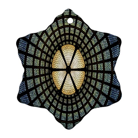 Stained Glass Colorful Glass Snowflake Ornament (2-Side)