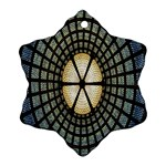 Stained Glass Colorful Glass Snowflake Ornament (2-Side) Back
