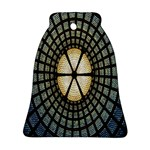 Stained Glass Colorful Glass Bell Ornament (2 Sides) Back