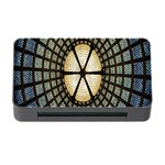 Stained Glass Colorful Glass Memory Card Reader with CF Front