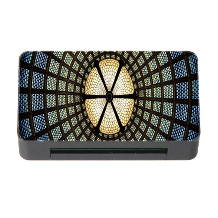 Stained Glass Colorful Glass Memory Card Reader with CF