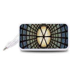 Stained Glass Colorful Glass Portable Speaker (White)