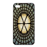 Stained Glass Colorful Glass Apple iPhone 4/4s Seamless Case (Black) Front