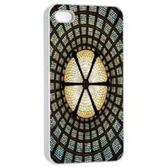 Stained Glass Colorful Glass Apple iPhone 4/4s Seamless Case (White)