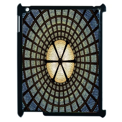 Stained Glass Colorful Glass Apple iPad 2 Case (Black)