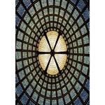 Stained Glass Colorful Glass Circle Bottom 3D Greeting Card (7x5) Inside