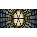 Stained Glass Colorful Glass BELIEVE 3D Greeting Card (8x4) Back