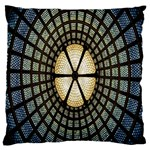 Stained Glass Colorful Glass Large Cushion Case (Two Sides) Back