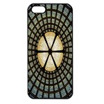 Stained Glass Colorful Glass Apple iPhone 5 Seamless Case (Black) Front