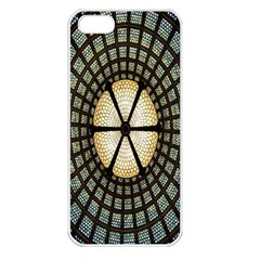 Stained Glass Colorful Glass Apple iPhone 5 Seamless Case (White)