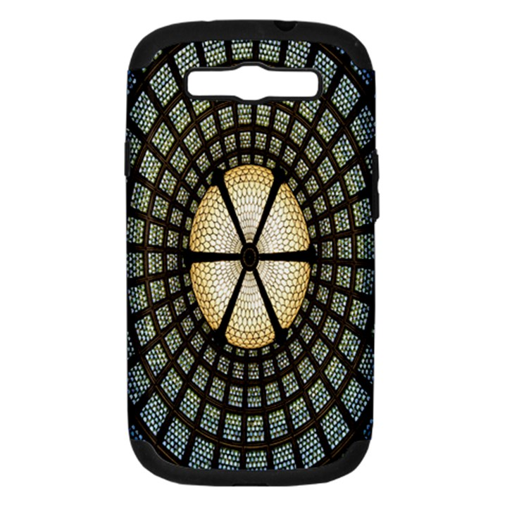 Stained Glass Colorful Glass Samsung Galaxy S III Hardshell Case (PC+Silicone)