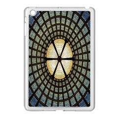 Stained Glass Colorful Glass Apple iPad Mini Case (White)