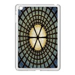 Stained Glass Colorful Glass Apple iPad Mini Case (White) Front