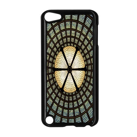 Stained Glass Colorful Glass Apple iPod Touch 5 Case (Black)