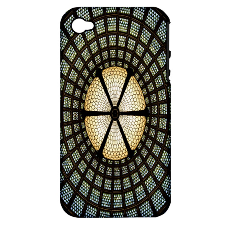 Stained Glass Colorful Glass Apple iPhone 4/4S Hardshell Case (PC+Silicone)