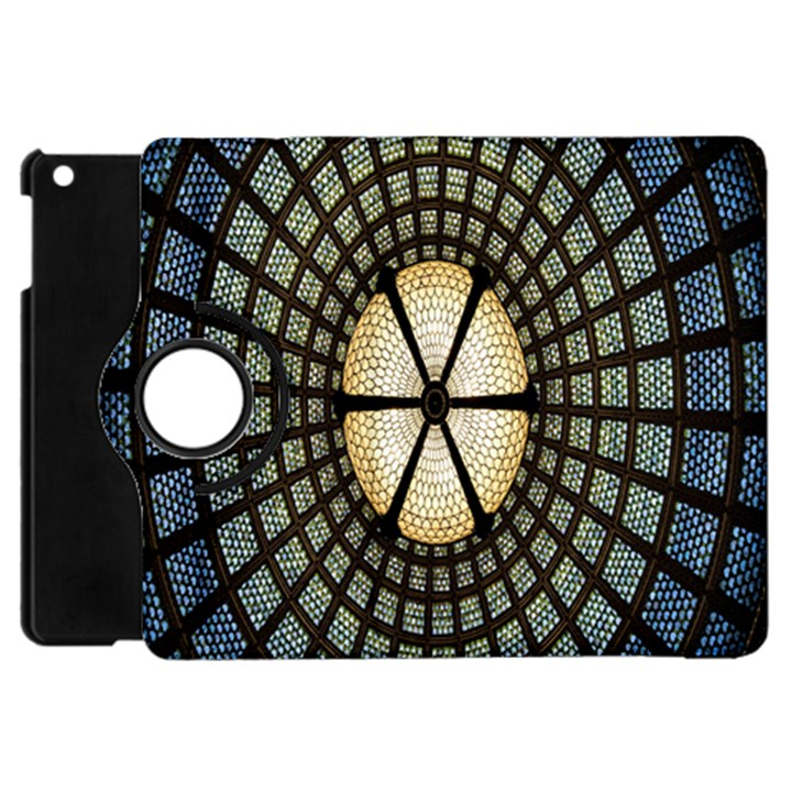Stained Glass Colorful Glass Apple iPad Mini Flip 360 Case