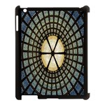 Stained Glass Colorful Glass Apple iPad 3/4 Case (Black) Front