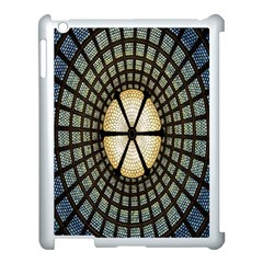 Stained Glass Colorful Glass Apple iPad 3/4 Case (White)