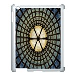 Stained Glass Colorful Glass Apple iPad 3/4 Case (White) Front