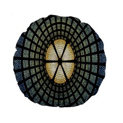 Stained Glass Colorful Glass Standard 15  Premium Round Cushions