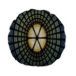 Stained Glass Colorful Glass Standard 15  Premium Round Cushions Front