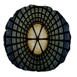 Stained Glass Colorful Glass Large 18  Premium Round Cushions Back