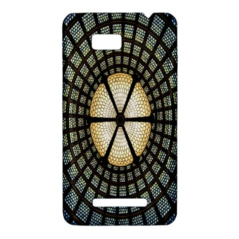 Stained Glass Colorful Glass HTC One SU T528W Hardshell Case