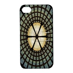 Stained Glass Colorful Glass Apple iPhone 4/4S Hardshell Case with Stand