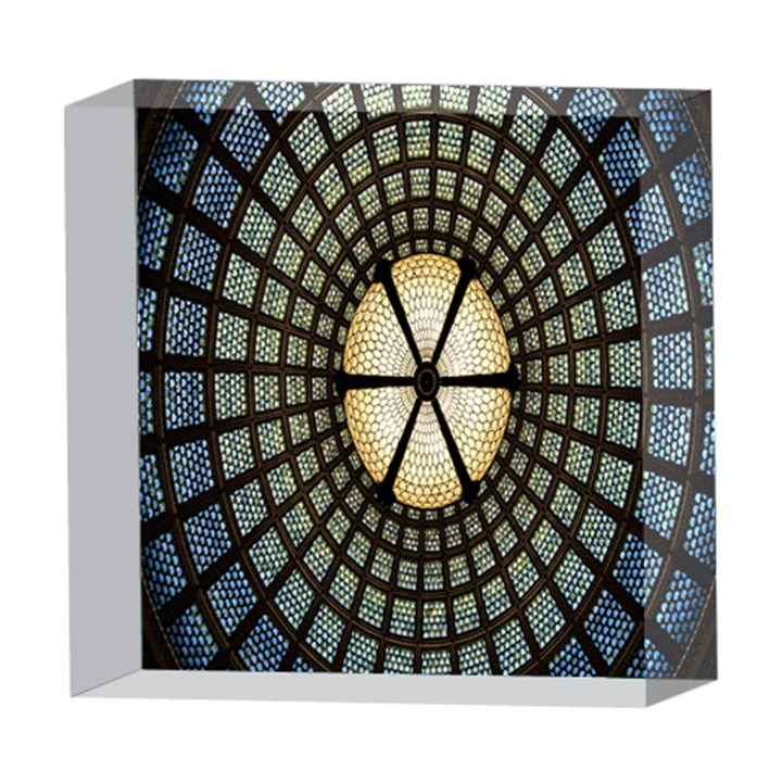Stained Glass Colorful Glass 5  x 5  Acrylic Photo Blocks