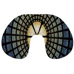 Stained Glass Colorful Glass Travel Neck Pillows Back