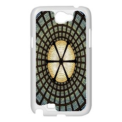 Stained Glass Colorful Glass Samsung Galaxy Note 2 Case (White)
