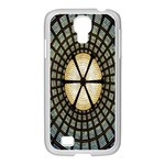 Stained Glass Colorful Glass Samsung GALAXY S4 I9500/ I9505 Case (White) Front
