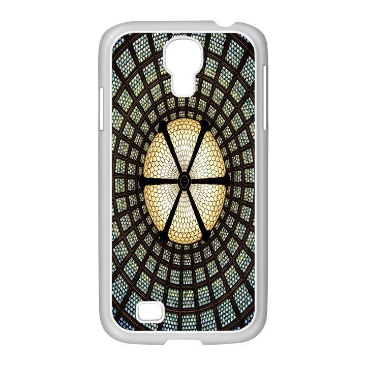 Stained Glass Colorful Glass Samsung GALAXY S4 I9500/ I9505 Case (White)