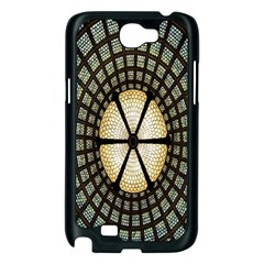 Stained Glass Colorful Glass Samsung Galaxy Note 2 Case (Black)