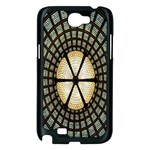 Stained Glass Colorful Glass Samsung Galaxy Note 2 Case (Black) Front