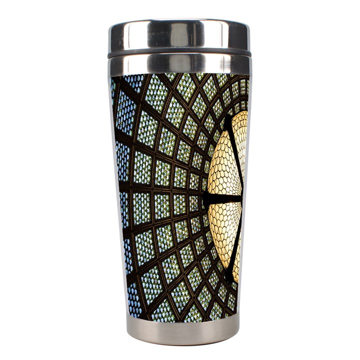 Stained Glass Colorful Glass Stainless Steel Travel Tumblers
