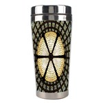Stained Glass Colorful Glass Stainless Steel Travel Tumblers Center