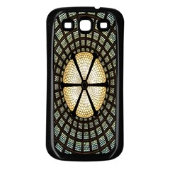 Stained Glass Colorful Glass Samsung Galaxy S3 Back Case (Black)