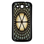 Stained Glass Colorful Glass Samsung Galaxy S3 Back Case (Black) Front